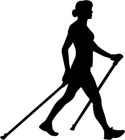 Nordic Walking silhouet
