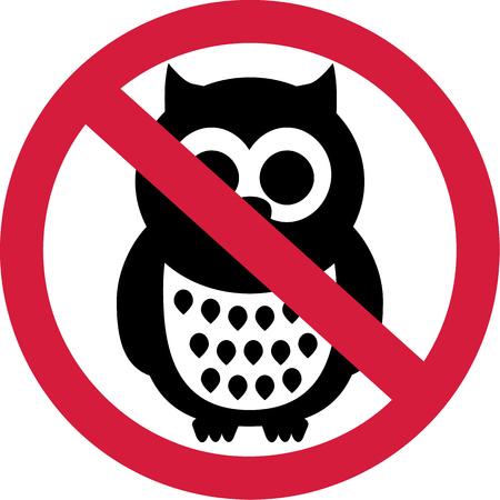 forbidden: Owls forbidden Illustration