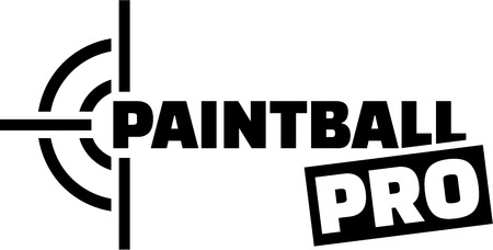 paint gun: Paintball pro with target