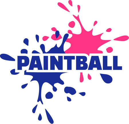 paintball: Paintball with two colored splashes