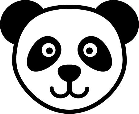 Panda head cartoon
