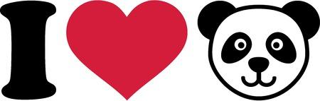 oso panda: Me encanta Panda Head