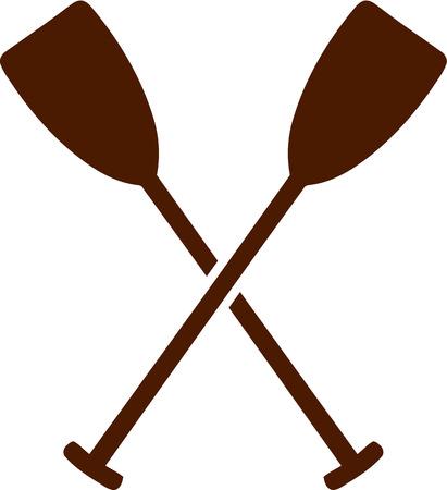 paddles: Crossed paddles Illustration