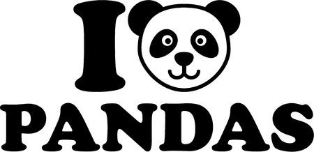 head i: I love panda with panda head