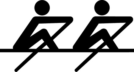Roeien Icon vierzonder pair Stock Illustratie