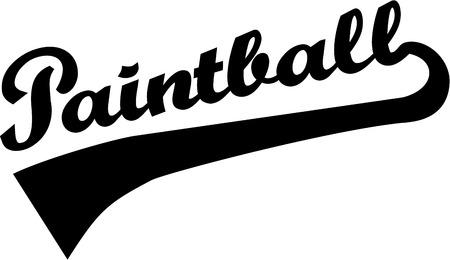 paintball: Paintball word retro