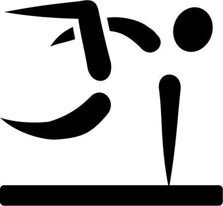 parkour: Parkour icon Illustration