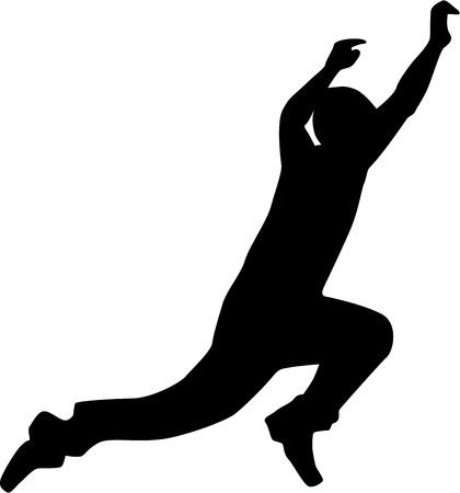 parkour: Silhouette jumping parkour