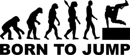 Born to jump parkour evolution Ilustração