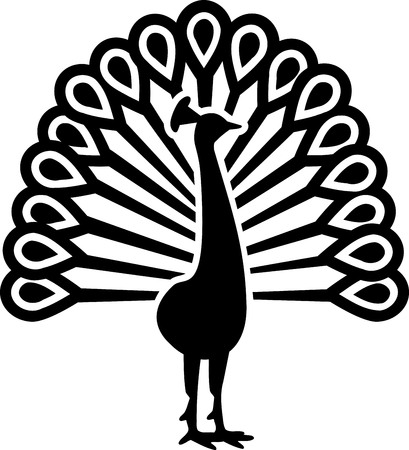 peacock: Beautiful peacock symbol