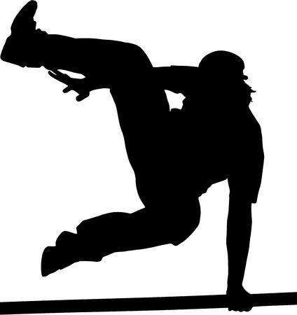 parkour: Parkour mooving silhouette Illustration
