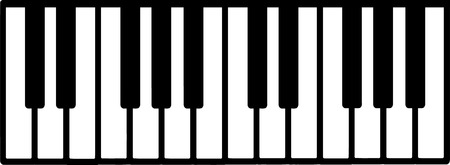 Piano keyboard Vettoriali