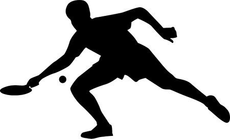 tischtennis: Tischtennisspielerin mit Schläger