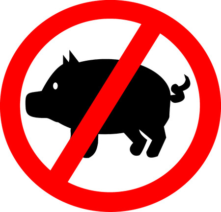 Pigs forbidden Illustration