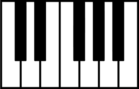 Piano keys set