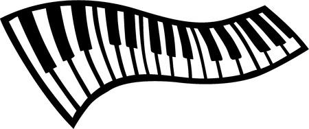 Swinging pianotoetsen Vector Illustratie