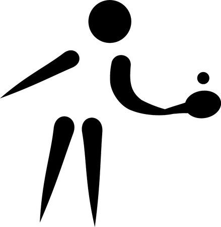 pong: Ping pong icon Illustration