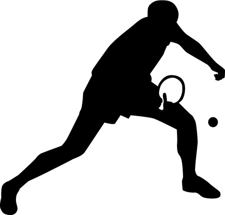 Ping pong player silhouette