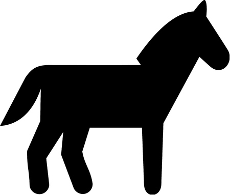 pedigreed: Horse icon Illustration