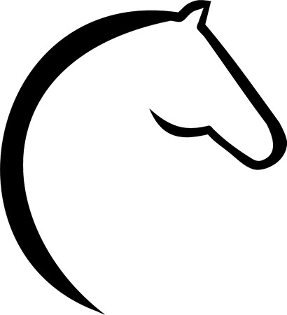 riding horse: Horse head icon