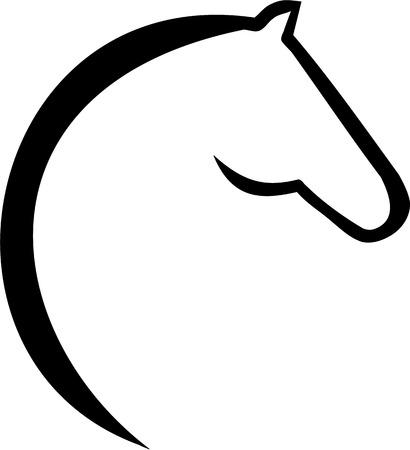 cabeza caballo: icono de la cabeza de caballo