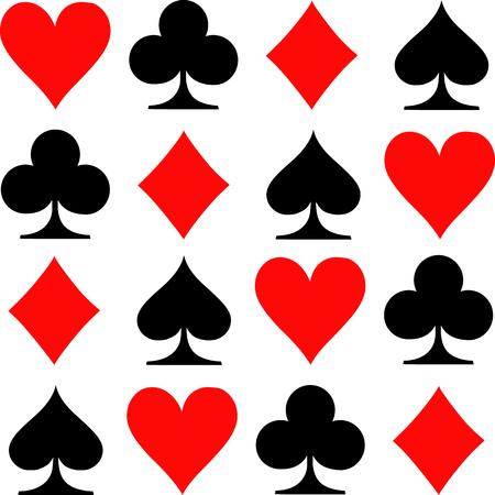 Poker Spielkarten Symbole Standard-Bild - 46601377