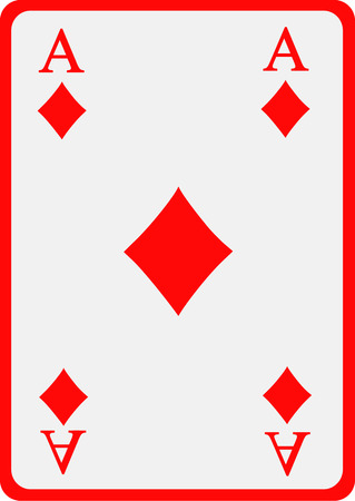 ace: Playing card diamond ace Illustration