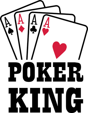 ace of spades: Poker king with four aces playings cards suits