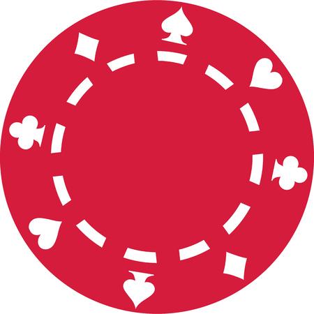 Red Poker gambling chip