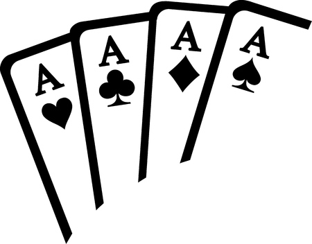 aces: Playing cards aces winning