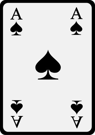 ace: Playing card spade ace