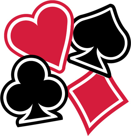 clubs diamonds: Playing cards Suits spades hearts diamonds clubs