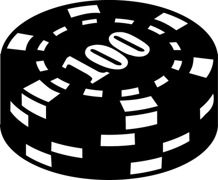 gambling chips: Gambling Chips with number 100