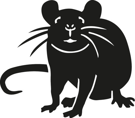 Rat looking at you Vector Illustration