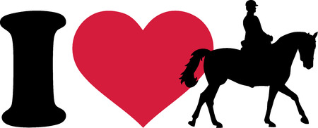 on horses: I love horse with rider