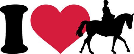 caballo: Me encanta caballo con jinete