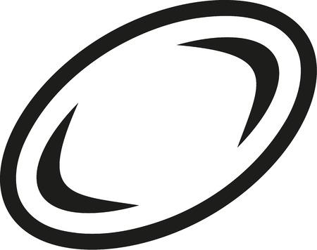 ballon de rugby: Rugby ball icon