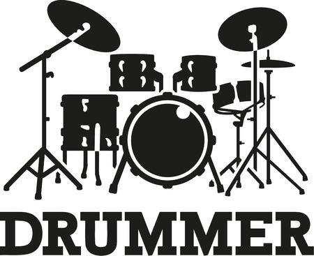 rhythm: Drum set with word drummer
