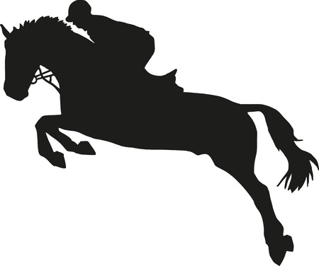 Show jumping silhouette 일러스트