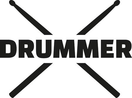Drum sticks with word drummer