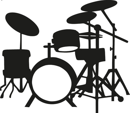 drums: Silhouette of drums