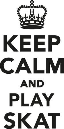 Keep calm and play skat