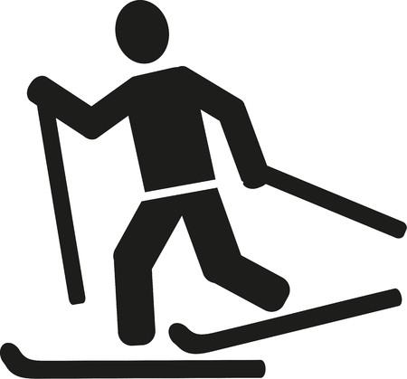 cross country skiing: Cross country skiing pictogram