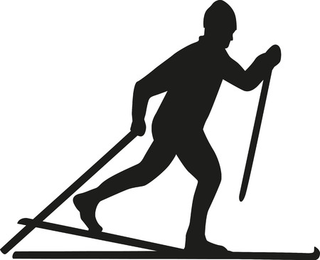cross country: Cross country skier Illustration