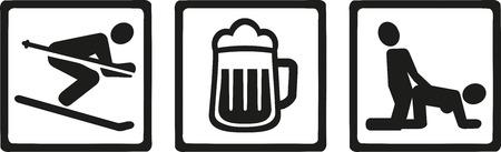 nude outdoors: Apres ski icons - ski beer sex