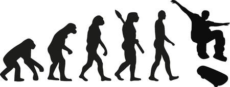 jumping monkeys: Skateboard evolution Illustration