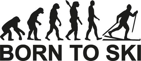 ancestors: Born to cross country skiing evolution