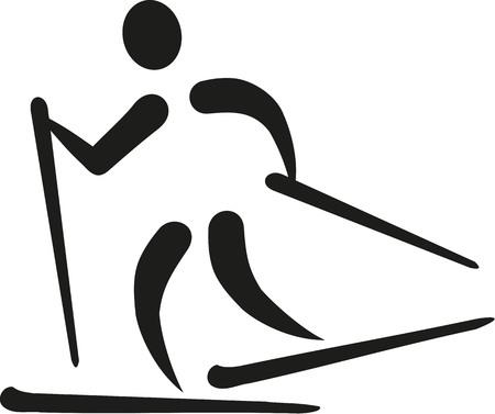 cross country skiing: Cross country skiing icon