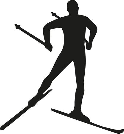 Silueta běh na lyžích
