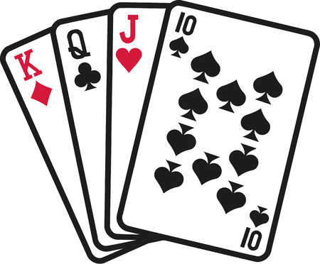 Skat cards Illustration